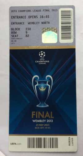 billet ticket Finale Champions league 2013 Borussia Dortmund Bayern Munich ligue