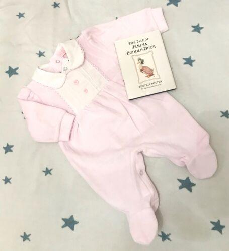 Traditional Spanish Style Baby Girls Velour Smocked Babygrow Pink