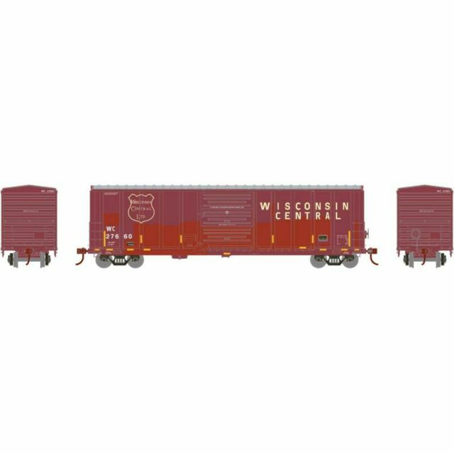 Athearn 15907 - 50' PS 5277 Box Car Wisconsin Central (WC) 27660 - HO Scale