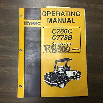 Hypac C766C C778B COMPACTOR SERVICE SHOP REPAIR MANUAL VIBRATORY ROLLER GUIDE