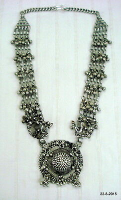 vintage antique ethnic tribal old silver necklace traditional jewelry