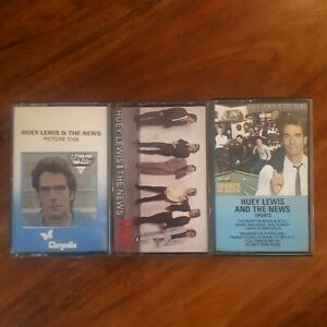 Huey Lewis And The News Cassette Bundle Job Lot Fore Sports Picture This