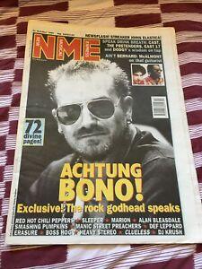 NME New Musical Express Music Magazine 21st October 1995 Bono U2