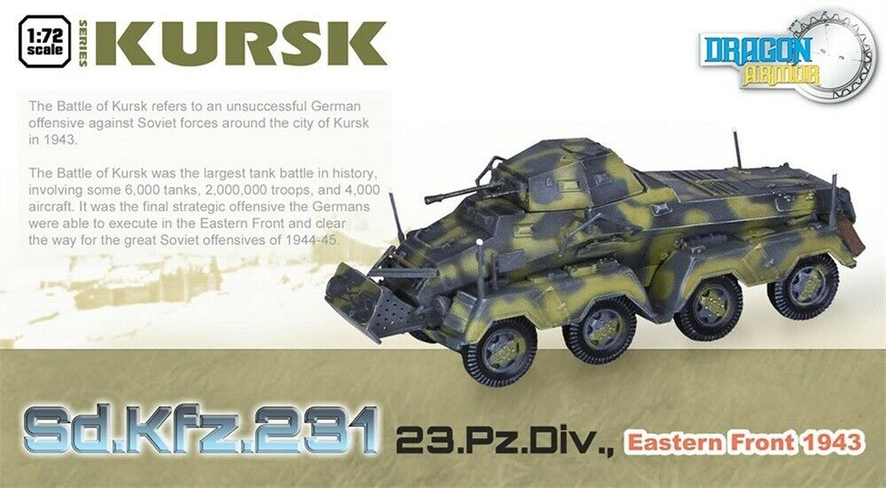 Dragon Armor 60628 - 1 72 Sd.Kfz.231 23.Pz.Div. East.Front'43 - Neu