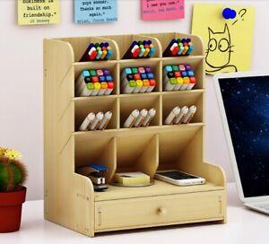 Office Desk Storage Box Study Pen Pencil  Holder Stationery Household Organizer