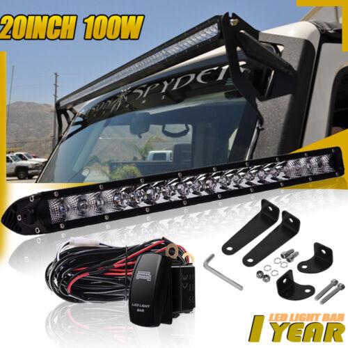 "20/""100W Led Light Bar Flood Spot Combo FOR Driving Offroad Truck FORD GMC ATV"