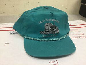 Vintage 80s Patsy s Kenworth Concord NH Teal Trucker Adjustable Hat VG USA  RAD 8ce0bb864e2