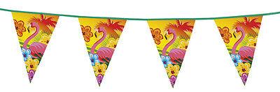 6 Meter Giant Flamingo Hawaiian Hawaii Party Garland Flag Decoration Bunting