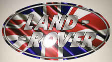 UNION JACK LAND ROVER BADGE STICKER DECAL DEFENDER DISCOVERY  FREE POSTAGE!