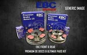 EBC-Delantero-Trasero-Discos-De-Freno-Almohadillas-Kit-Set-OE-Quality-reemplazar-PD40K2069