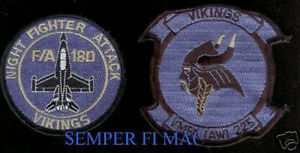 AUTHENTIC-VMFA-AW-225-VIKINGS-PATCH-US-MARINES-MCAS-MIRAMAR-MAG-11-3D-MAW-F-18