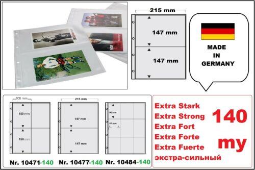 100 EXTRA STARK A4 Sammelhüllen Prospekthüllen Kartenhüllen 140 my 2 Fächer A5