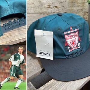 Retro 90s Liverpool FC Adidas Cap - VTG 1996 Hat - Fowler McManaman - BNWT