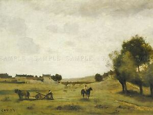 JEAN-BAPTISTE-CAMILLE-COROT-FRENCH-VIEW-EPERNON-OLD-ART-PAINTING-POSTER-BB5818A