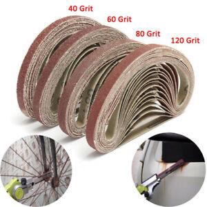 40Pc-40-60-80-120-Grit-Abrasive-Belts-For-Long-Reach-Air-Sanders-Meulage-10x300mm