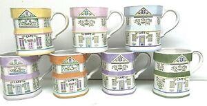 7-Lenox-1992-Porcelain-SPICE-VILLAGE-Cafe-Coffee-Tea-Mugs-Victorian-Houses