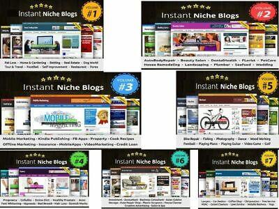 Instant Niche PLR Wordpress Blogs Package Work From Home VOLUME#7
