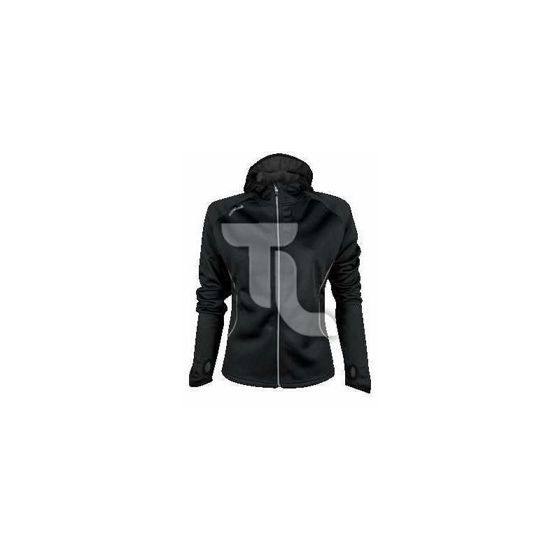 Newline warm-up Jacket corre chaqueta chaqueta capucha Fleece Fleece Fleece negro nuevo triathlon 7ea254