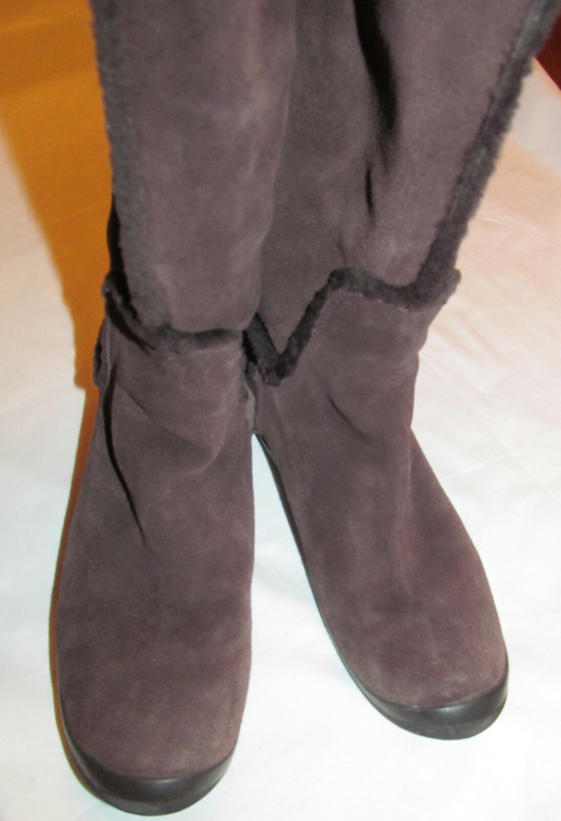 G SERIES NIKE AIR  BRINGHAM suede shearling tall back back back zip winter Stiefel 89d16b