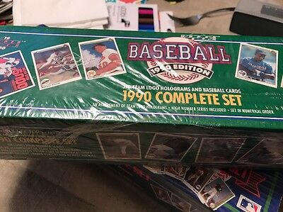 1990 COMPLETE FACTORY SEALED BOXED SET OF UPPER DECK BASEBALL CARDS COMPLETE
