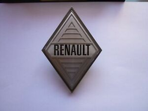 Sigle-insigne-logo-pastique-losange-RENAULT-4-5-6-8-10-12-16-monogramme-calandre