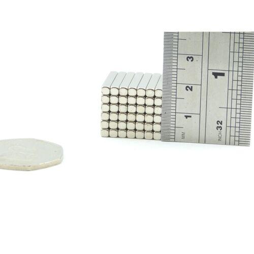 Strong 3mm x 3mm x 20mm N35 rare earth neodymium block magnets SMALL PKS MRO DIY