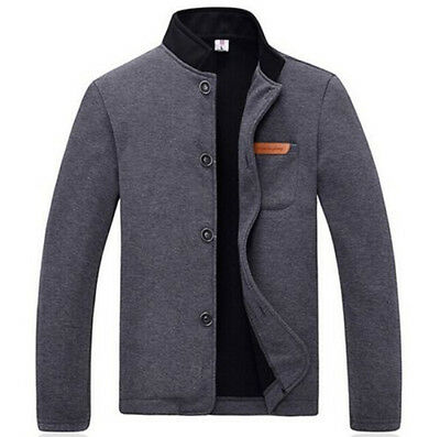 New Men's Jacket Slim Collar Coat Overcoat Spring Warm Casual Outwear