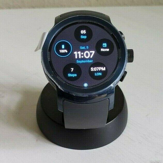LG WATCH SPORT W280A 4G LTE 45.4mm STAINLESS STEEL CASE DARK BLUE EDITION
