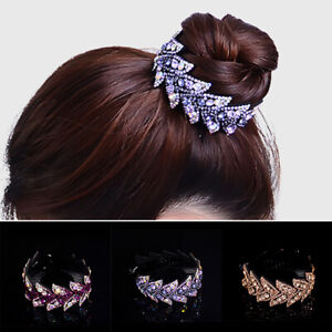Women-Crystal-Rhinestone-Hair-Clip-Claw-Ponytail-Bun-Holder-Hair-Comb-Hairpin