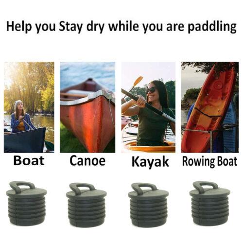 4x Kayak Scupper Plug Drain Holes Bung Marine Boat Canoe Paddle Accessories US