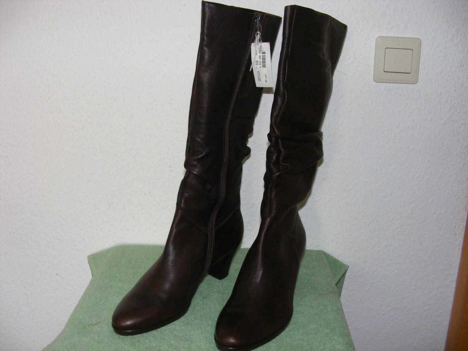 GABOR  Gr. 40,5 Stiefel Stiefel Stiefel  braun Leder kniehoch NEU exquisit braune Lederstiefel 921110