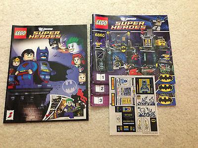 Manuals Sticker Set ONLY set 70909 Lego NEW Instructions Batcave Break-In