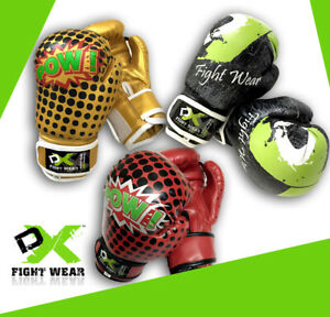 Black Golden Kids Top Ten Pow Boxing Glove DX Fight Wear Red