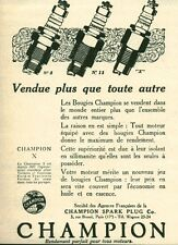 Publicité ancienne accessoire automobile bougie Champion issue du magazine 1925