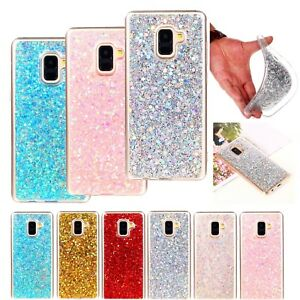 new concept 02418 6b014 Details about Bling Rubber Soft TPU Protective Case Cover For Samsung  Galaxy A6 A8 J6 J4 2018
