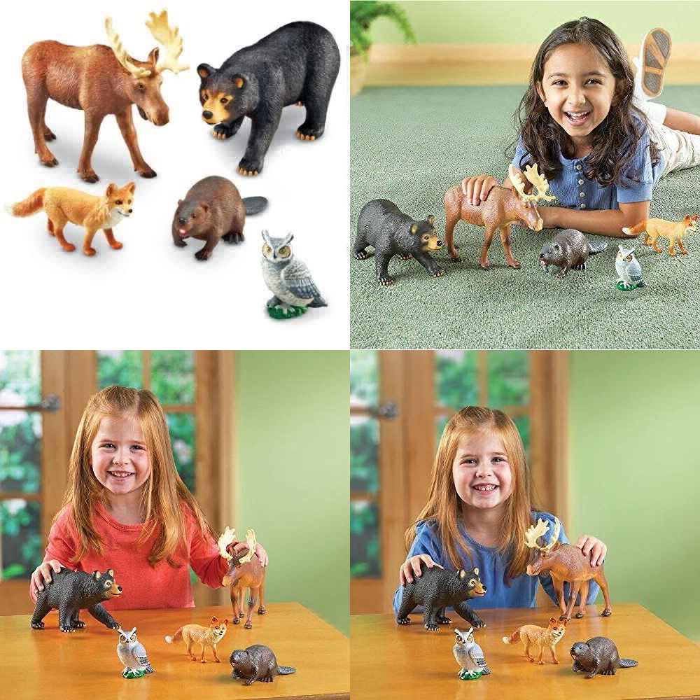 Learning Resources Jumbo Forest Animals - Set Of 5 UK POST FREE