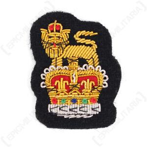 Army-Peak-Cap-Badge-Queens-Crown-Repro-Patch-Uniform-Insignia-British-New
