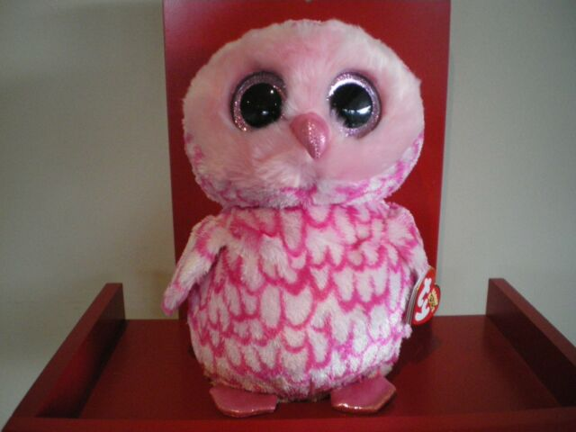 Ty Beanie Boos PINKY the owl - MEDIUM 9 INCH NWMT - approx 25cms. d5a220a6d2a