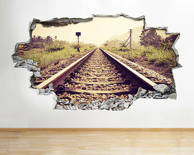 Z092 Stream Train Vintage Boys Bedroom Wall Decal Poster 3D Art Stickers Room