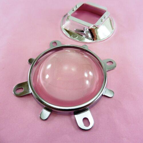 Conjunto entero de 58mm Vidrio Reflector De Lente + + Power LED Proyector Óptica Soporte Hazlo tú mismo
