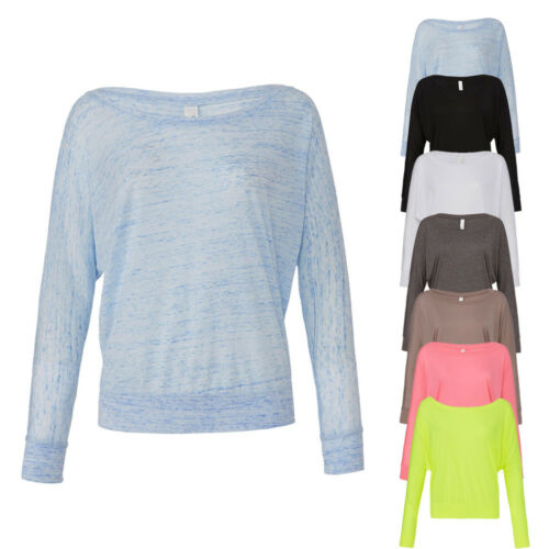 Bella Damen T-Shirt Shirt Flowy Off The Shoulder Schulterfrei S M L XL Neuware
