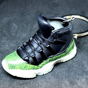 Details about AIR JORDAN XI 11 RETRO OG GREEN SNAKESKIN KEYCHAIN 3D  SNEAKERS SHOES 1 6 FIGURE