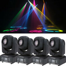 4-Pack 30W RGBW Stage Light LED Moving Head Lights Disco DJ Party Gobos Lighting