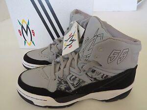 mens shoe 55 Adidas Mutombo Gray black basketball hi tops C75209 9 Tribe NIB