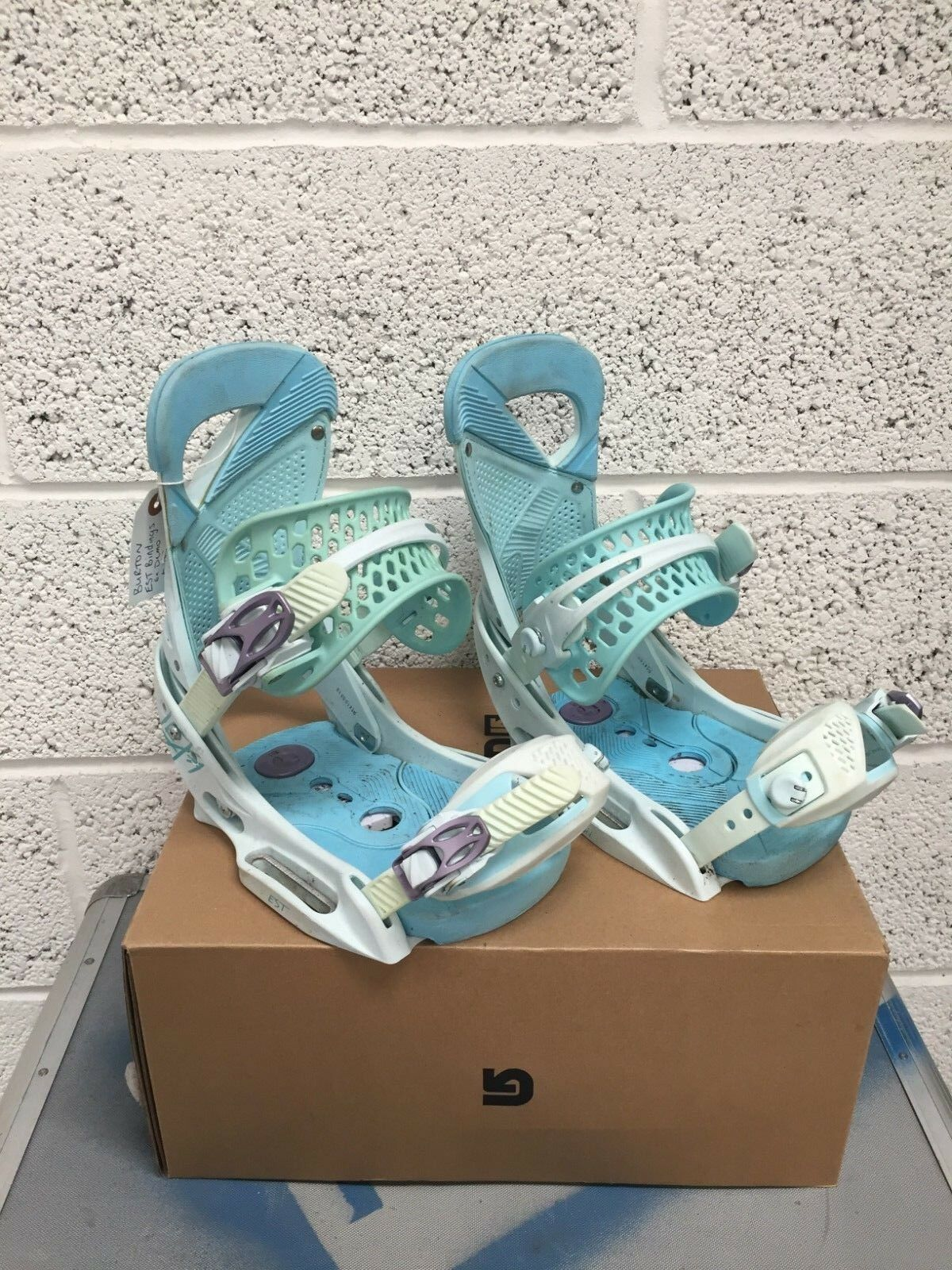 EX DEMO BURTON WOMENS SNOWBOARD BINDINGS LEXA EST blueEBIRD LARGE