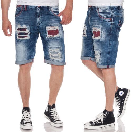 CIPO /& BAXX Herren Denim Shorts CK186 Jeansshorts im Destroyed Look