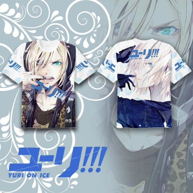 Handsome Anime YURI!!! on ICE T-shirt Tee Tops Summer Multicolor Short Sleeve