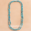 6mm-Blue-Sea-Sediment-Jasper-Round-Knot-Layering-Long-Necklace-For-Women-Z0189 thumbnail 3