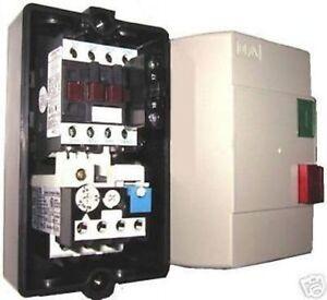 Enclosed Motor Starter Contactor Start Stop 8 11a 220 V Ebay