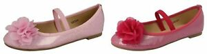 girls-spot-on-h2r392-flower-detail-dolly-shoes